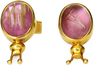 Isabel Englebert Pink Bug 18k Gold Cufflinks