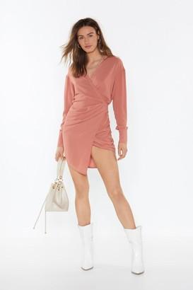 Nasty Gal Womens Love Shirts Wrap Dress - Orange - 8