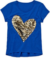 JCPenney Total Girl Reverse Sequin Tee - Girls 7-16 and Plus