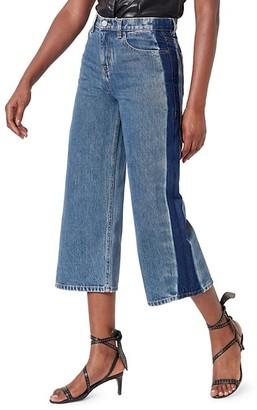 Joie Wilmer Side-Stripe Wide Leg Jeans