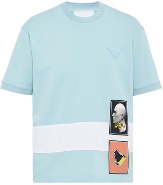 Prada graphic print T-shirt