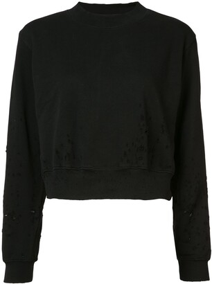 Cotton Citizen Distressed Cropped Sweater
