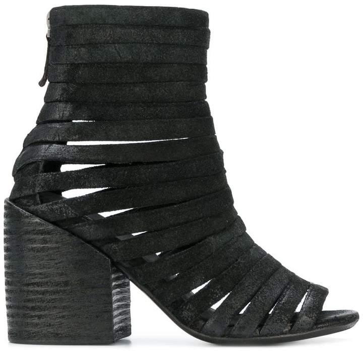 Marsèll lattice open toe ankle boots