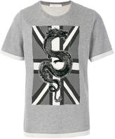 Pierre Balmain Union Jack dragon T-shirt