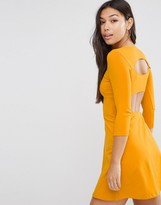 Asos Mini Skater Dress with Cut Out Back