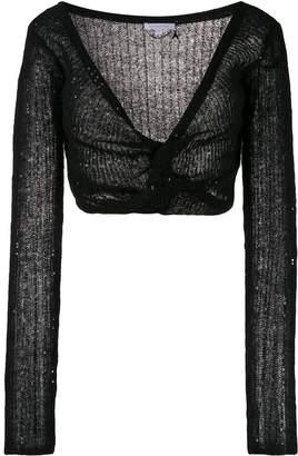 Patrizia Pepe cropped sequin cardigan