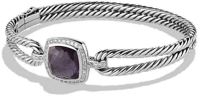 David Yurman Albion Bracelet with Black Orchid and Diamonds