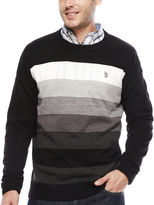USPA U.S. Polo Assn. Long-Sleeve Striped Crewneck Sweater