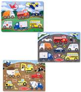 Melissa & Doug Peg Puzzle Vehicle Bundle