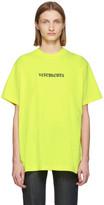 Vetements Yellow Postal Logo T-Shirt