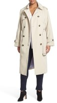 London Fog Plus Size Women's Double Breasted Trench Coat