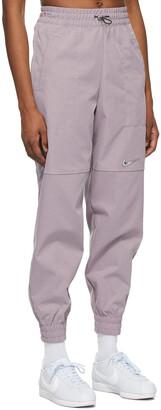 Nike Purple Woven Sportswear Swoosh Lounge Pants