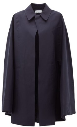 Raey Point-collar Cotton-garbadine Cape - Navy