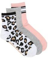 Steve Madden Leopard Women's Ankle Socks - 3 Pack