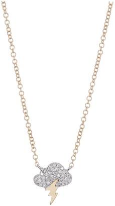 Ron Hami 14K Gold Diamond Thunderbolt Pendant Necklace