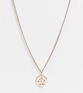 Serge DeNimes sterling silver rose gold plated neckchain with crest coin pendant
