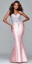Faviana Strapless Mikado Corset Mermaid Prom Dress