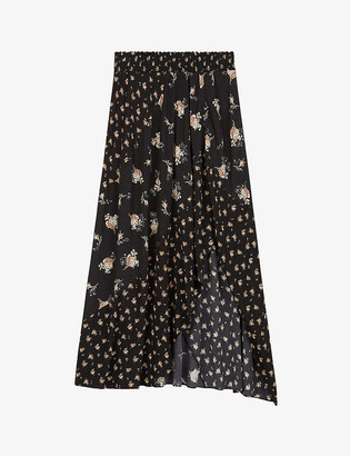 Maje Jartri floral-print crepe maxi skirt