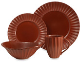 Sasaki Dynasty Terracotta 4-Piece Place Setting