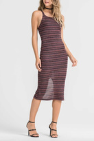Lush Striped Cross Back Dress