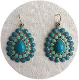 Line & Dot Dot & Line Blue enamel sea beaded Bohemia statement collar earrings