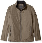 Calvin Klein Men's Big and Tall Poly Bonded Open Bottom Jacket