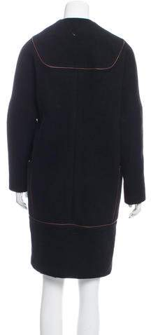 Martin Grant Wool Button-Up Coat