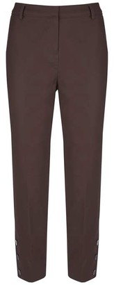 Mint Velvet Chocolate Button Hem Capri