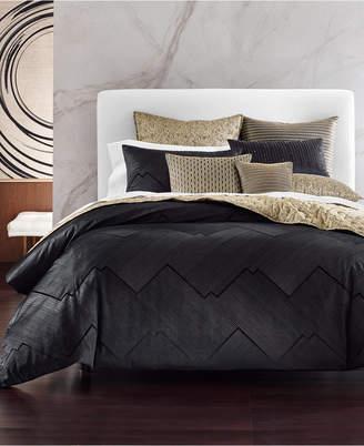 Hotel Collection Linear Chevron Full/Queen Duvet, Bedding