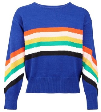Dorothy Perkins Womens *Izabel London Navy Rainbow Stripe Jumper, Navy