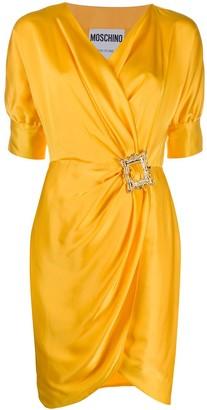 Moschino Frame Detail Wrap Dress