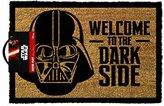 """Star Wars Darth Vader Welcome to the Darkside"""" Door Mat, Brown"""