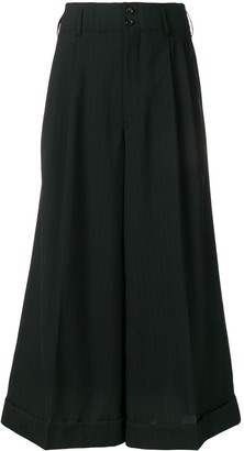 Comme des Garcons Super Flared Cropped Trousers