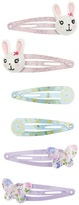Accessorize 6x Bunny Character Click Clack Hair Clips