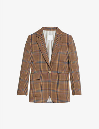 Sandro Aisan single-breasted woven blazer