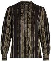 ZEUS + DIONE Elis geometric-jacquard silk-blend shirt
