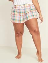 Old Navy Printed Poplin Plus-Size Pajama Shorts