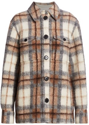 Etoile Isabel Marant Gastino Plaid Wool-Blend Jacket