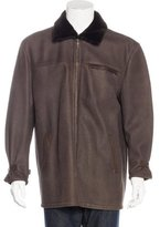 Brioni Fur-Trimmed Shearling Coat