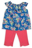 Ralph Lauren Babys Two-Piece Floral Top and Leggings Set