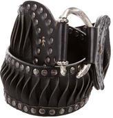 Henry Beguelin Studded Leather Belt