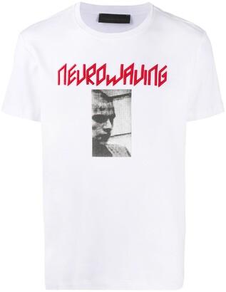 Diesel Black Gold Neurowaving embroidered photograph print T-shirt