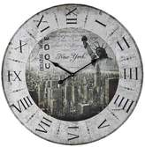 Lazy Susan 24 in. Printed Wall Clock