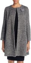 Armani Collezioni Bouclé Wool Blend Coat