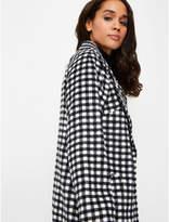 George Black Check Formal Longline Coat