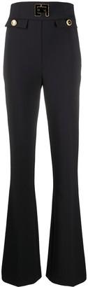 Elisabetta Franchi Ultra High-Waisted Bootleg Trousers