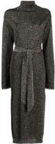 Nanushka lurex knit tunic dress