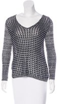 Helmut Lang Open-Knit V-Neck Sweater