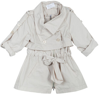 Ermanno Scervino Girls Beige Trench Coat 6 Yrs