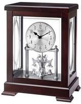 Bulova Empire Wood Embossed Handle Mantel Clock